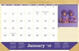 anne geddes 2014 15 16 month desk pad calendar