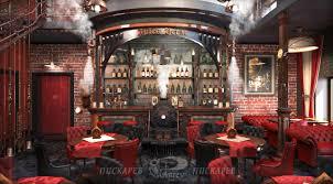 steampunk house interior jules verne restaurant interior design vladimir piskariov