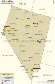 Map Of Fremont Street Las Vegas by List Of Museums In Nevada Nevada Museum Map