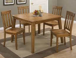 Slat Back Dining Chairs Simplicity Honey Square Dining Table With Four Slat Back Dining