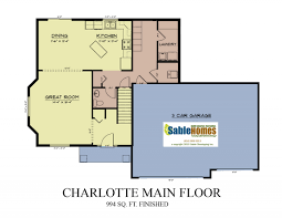 floor plan of a kitchen charlotte sable homes