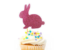Easter Cake Decorations Ireland by Bunny Cupcake Topper Etsy