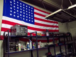 Use Flag American Flag On The Wall Of Car Repair Shop Free Images For