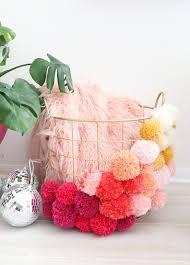 make your own pom pom basket a beautiful mess