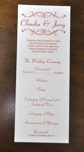 traditional wedding program wording wedding program sle template business