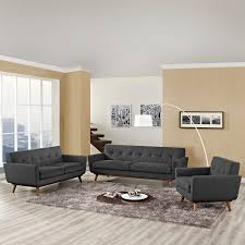 Sofa And Armchair Set Modway Eei 1349 Dor Engage Sofa Loveseat U0026 Armchair Set In Tufted