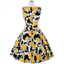 vintage dresses poque print floral 50s 60s vintage dresses hepburn 2017