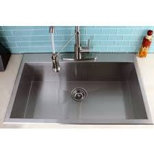 Kitchen Sinks Top Mount by Topmount 31 5 Inch Single Bowl Stainless Steel Kitchen Sink Free