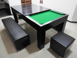 In   Pool Table With Dining Table Option - Combination pool table dining room table