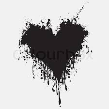 graphic grunge heart ink splatter vector paint splat love