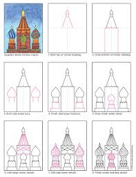draw russian buildings art projects for kids