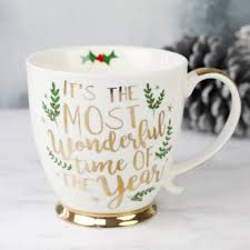 christmas mug most wonderful time of the year ceramic christmas mug wonderful