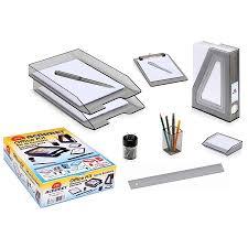 Office Desk Organizer by Acrimet Office Desk Organizer Set Kit Clipboard Magazine File