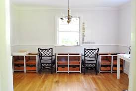 Built In Desk Cabinets Making A Big Double Desk With Secondhand Cabinets Young House Love