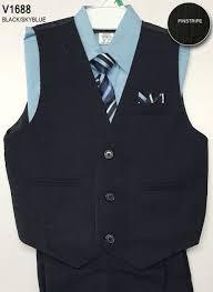 boys light blue dress pants ca v1688sb boys vest set style v1688 sky blue shirt with black