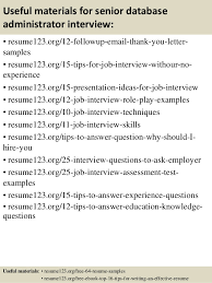 Sample Administrative Resume by Top 8 Senior Database Administrator Resume Samples