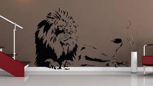 wandtattoo löwe afrika tiger baum wandaufkleber wandsticker