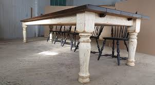 hand crafted 12 pine farm table with crackle finish by carolina custom made 12 pine farm table with crackle finish