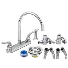 kitchen faucets installation everflow two handle kitchen faucet complete installation kit