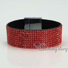 magnetic wrap bracelet images Blingbling shiny crystal rhinestone magnetic buckle wrap slake jpg