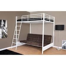 lit en hauteur avec canapé mezzaclic lit mezzanine 140x190 cm sommiers banquette lit avec