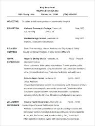 Sample Chronological Resume by Chronological Resume Examples