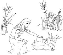 baby moses free coloring pages on art coloring pages