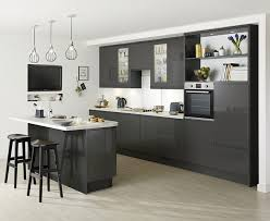 clerkenwell gloss graphite kitchen contemporary kitchens