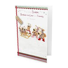 boofle sister brother in law u0026 family christmas card amazon co