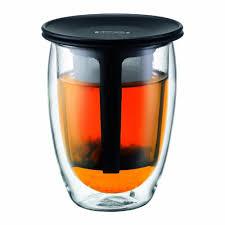costo bicchieri di plastica bodum tea for one bicchiere da t礙 con filtro in plastica a doppia