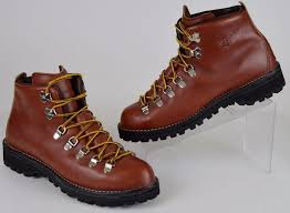 womens boots vibram sole s vtg danner 3052 brown leather 7 eye lace up hiking boot