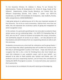 5 graduation welcome speech formatting letter