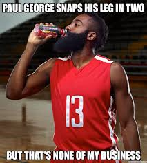 Paul George Memes - george snaps his leg in two