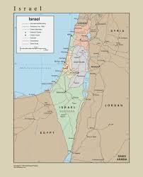 Wall Map Tackamap Israel Wall Map From Onlyglobes Com