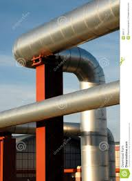 exposed ductwork stock image image of industry pipe