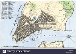 A Map Of New York by Map Of The City Of New York 1789 Stock Photo Royalty Free Image