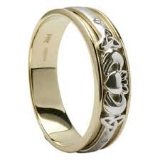 claddagh wedding ring diamond claddagh wedding ring with knot