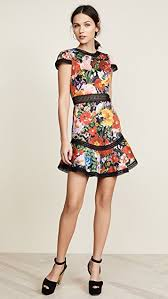 flutter style dress alice olivia rapunzel flutter dress shopbop