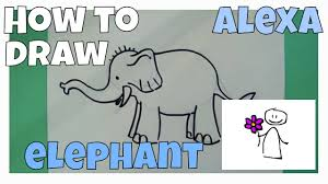 how to draw an elephant for kids tutorial easy drawing for