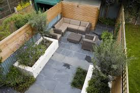 Contemporary Garden Sheds Small Contemporary Designed Garden In Putney With Rendered Raised