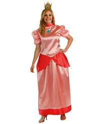 Peach Halloween Costume Mario Super Princess Peach Size Costume Women Mario