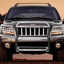 chrome jeep cherokee 04 jeep grand cherokee wj front bumper protector brush grille