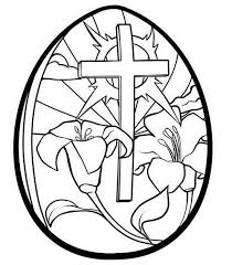easter cross and flowers in egg pictures to colour draw to color