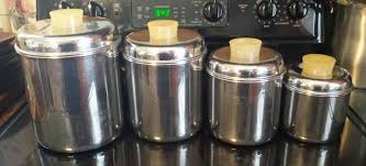 stainless steel kitchen canisters set 4 vintage revere ware stainless steel kitchen storage