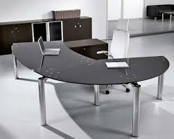 Glass Office Furniture Desk Modern Glass Office Desk With Drawers Greenville Home Trend