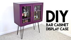 Diy Bar Cabinet Diy Modern Bar Cabinet Display With Hairpin Legs How To