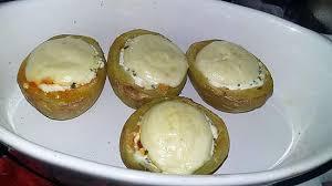 recette de cuisine pomme de terre recette de pomme de terre farci ricotta chorizo gratiné au babybel