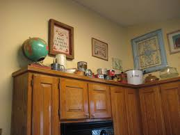 kitchen decorating above kitchen cabinets in amazing ideas for
