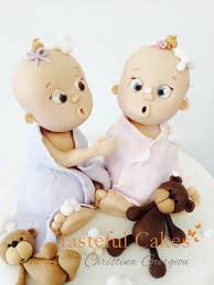 tasteful cakes by christina georgiou baby twins christening cake