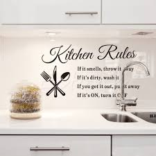 f85 free shipping diy removable kitchen words wall stickers decal